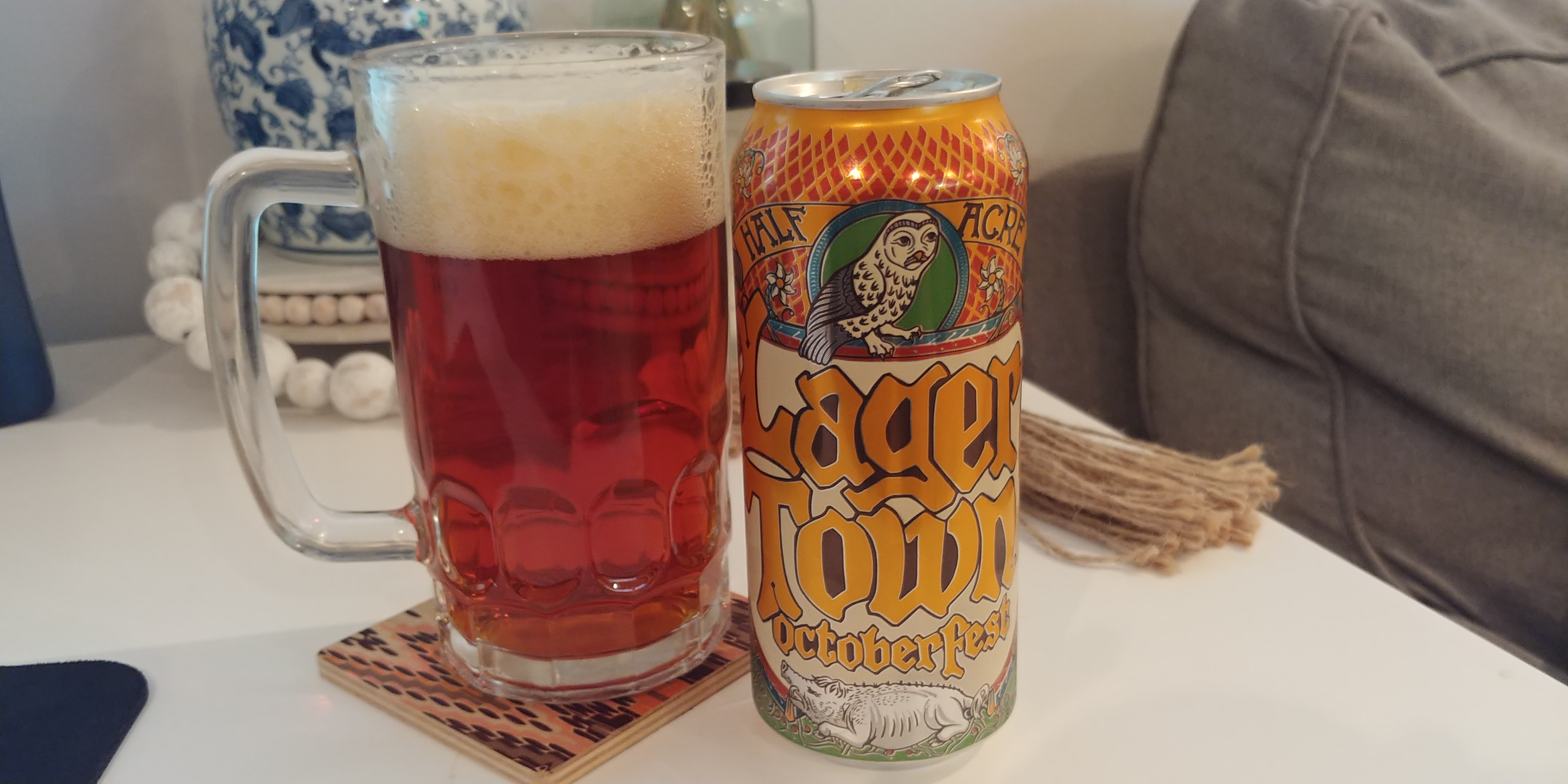 Half Acre Lager Town Beer