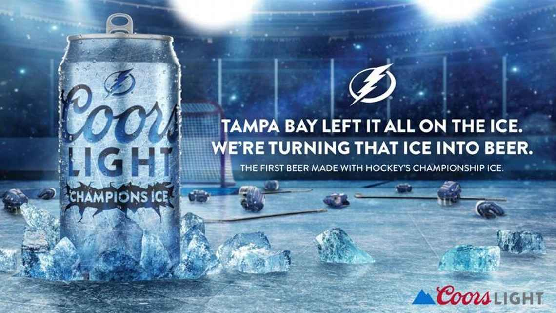 Coors Light Champions Ice Lightning Stanley Cup Beer