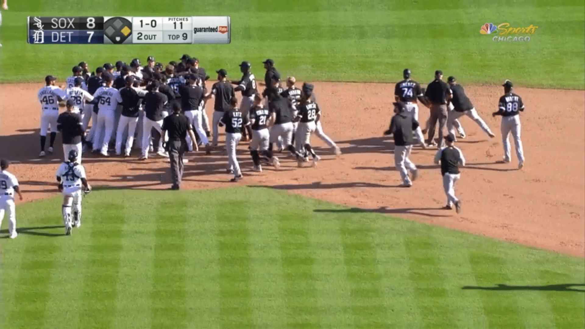 White Sox Tigers Fight